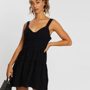 Missguided Tiered Cami Button Through Mini…